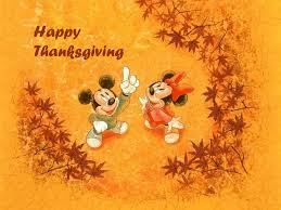 mickey and minnie mouse wishing you happy thanksgiving