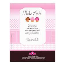 professional bake sale flyer personalized zazzle com