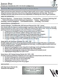 Resume Samples Areas Of Expertise by Bartender Resume Sum Up All Of Your Qualification In Working As A