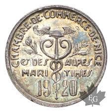 chambre de commerce alpes maritimes monaco chambre de commerce de 5 cent 1920 silver sup fdc