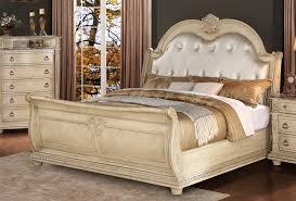 homelegance palace ii upholstered bedroom set antique white palace ii upholstered bed antique white