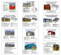 pole barn blueprints and garage plans