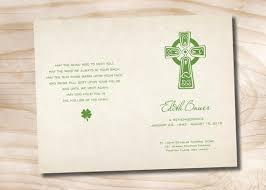 funeral program paper celtic cross funeral or memorial program bulletin order of