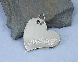 personalized heart pendant heart pendant etsy