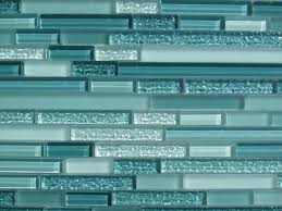 Aqua Horizontal Mosaic Glass Tile Kitchen Backsplash Bathroom - Teal glass tile backsplash