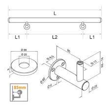 Tubular Handrail Standards Handrail Kit Tubular Stainless Steel Flush Fix Plate Bracket