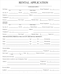 rental reference form printable sample residential lease