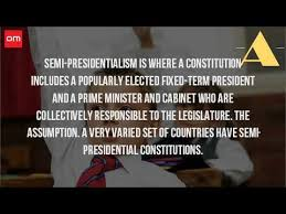 Define Presidential Cabinet What Is A Semi Presidential System Youtube