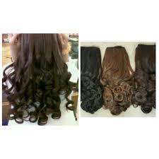 hair clip rambut jual hair clip panjang wig rambut palsu curly sosis hairclip hitam