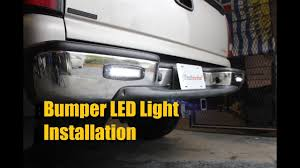 car lighting installation near me heise bumper l e d reverse auxiliary light installation youtube
