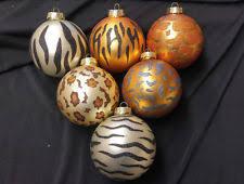 animal print ornaments ebay