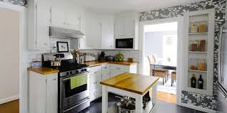 apartment decorating ideas budget friendly galley kitchen counter