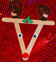 s a bowl of cherries popsicle stick reindeer ornament