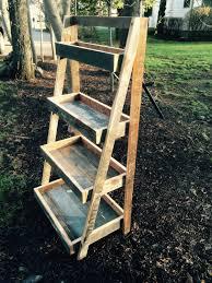Wooden Ladder Bookcase by Reclaimed Wood Ladder Shelf