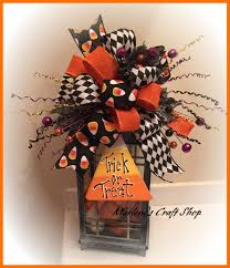 Etsy Halloween Wreath by Halloween Lantern Swag Halloween Wreath Accent Bow Candy Corn