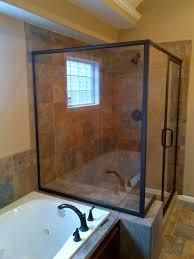 shower wonderful oil rubbed bronze shower door semi frameless 3