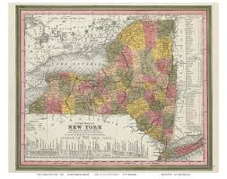 Map Of New York State Counties by Prints Of Old New York State Maps