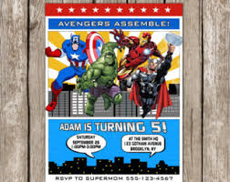 avengers birthday etsy