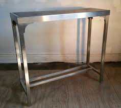 stainless steel console table stainless steel console table idea console table ideal stainless