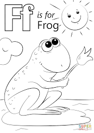 Letter F Is For Frog Coloring Page Free Printable Coloring Pages Frog Colouring Page