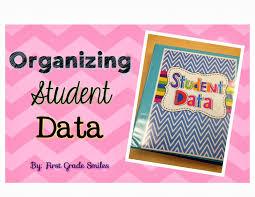 first grade smiles bright ideas organizing student data