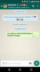 whats app version apk official whatsapp material design apk