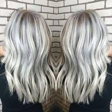 silver hair with blonde lowlights icy blonde balayage blendblendblend hair pinterest icy