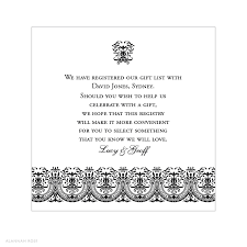 gift registry wedding wedding invitation wording gift registry fresh alannah