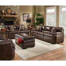 simmons upholstery brown bonded leather storage ottoman shop