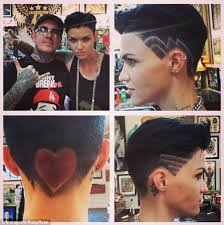black male haircuts with zig zags ruby rose gets new hairstyle complete with giant red heart and zig