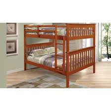 Donco Bunk Bed Bunk Bed With Attached Ladder In Light Espresso