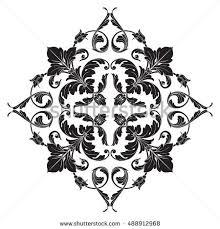 vintage baroque element ornament retro pattern stock vector