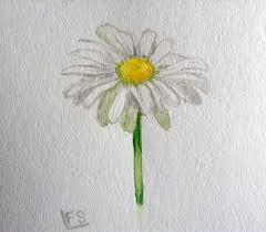 watercolour daisy practice by fadedsketch on deviantart
