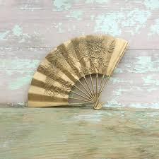 oriental fan wall hanging vintage asian oriental decorative solid etched brass metal hand fan