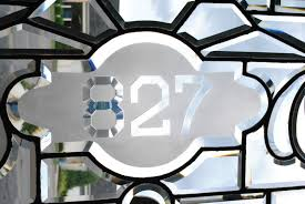 antique stained glass transom window antique fully beveled glass transom window with 827 number in