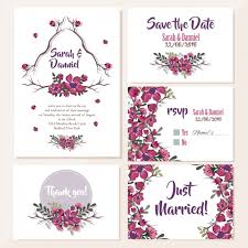 invitation marriage wedding invitations floral design vector free