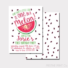 colors classic watermelon birthday invitations free with image