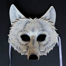 White Wolf Mask By Oakmyth On Deviantart Caretas Pinterest