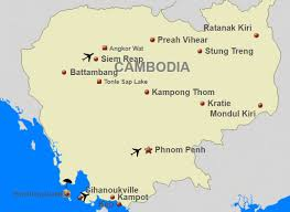 Border Patrol Checkpoints Map Cambodia Fact Destination Travel Cambodia