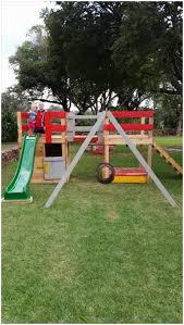 backyards mesmerizing colorful pallet jungle gym kids playhouse