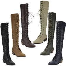 s lace up combat boots size 11 block heel s size 11 combat boots ebay