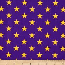 Flag With Yellow Star All Stars Purple Yellow Discount Designer Fabric Fabric Com