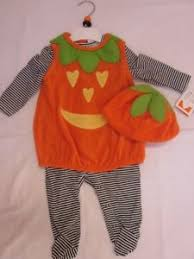 Boys Pumpkin Halloween Costume Nwt Boy Pumpkin Halloween Costume Romper Hat Ebay