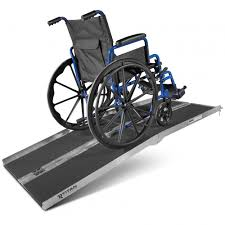 Wheel Chair Ramp 6 U0027 Ft Aluminum Multifold Wheelchair Scooter Mobility Ramp Portable