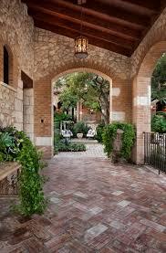 mediterranean chevron brick patio floor exterior design new