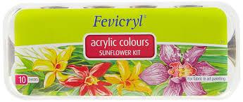fevicryl acrylic colors sunflower kit 10 shades amazon in