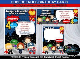 marvel party invitations alesi info