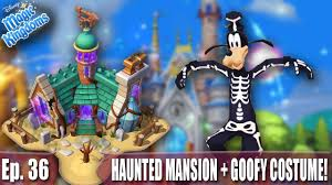 unlocking haunted mansion and goofy halloween costume disney