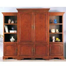 Unfinished Tv Armoire Tv Armoire 3 Piece Set Tv Armoire In Cherry Finish 5820 Iem