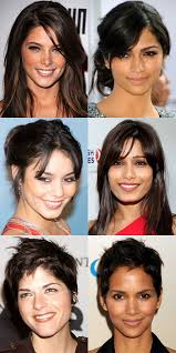 triangle and rectangular face hairstyle female the best and worst bangs for diamond faces beautyeditor